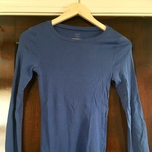 Jcrew Blue LS Fitted Tee Size Small